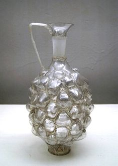 Clear Urn with White Handle from discarded plastic bottles