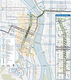Portland City Center and Free Rail Zone Map. We're city folks and don't mind using public transportation..:-)