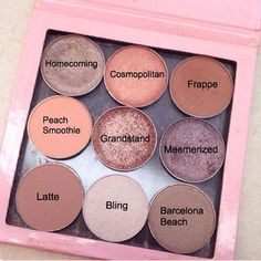 margieknowsmakeup MakeupGeek Eyeshadows I received several requests to list the names. Here you go!