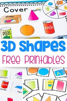 Try this free printable shape activity pack! 4 fun activities for learning about shapes: shape spin & cover, memory game, flip book and picture supported sentence building cards. Kids will love learning about shapes with these hands-on activities! Shape Activities Kindergarten, 3d Shapes Activities, Geometry Activities, Teaching Shapes, Fun Activities, Math Activities For Preschoolers, Preschool Shapes, Printable Shapes, Shapes For Kids