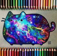 Galaxy Pusheen // Patrizia Conde