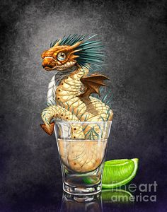 Tequila Wyrm Print by Stanley Morrison