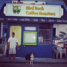 We love this shot of Chuck and Rosco outside our original location.