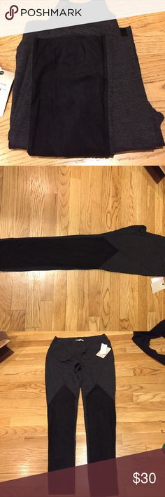 """Bass leggings with Faux Suede The front part of the leggings are a Faux Suede and so soft.  Tempted to keep these myself 😍 brand new with tags.  Length is 38""""  inseam is 29""""  rise is 9"""" Bass Pants Leggings"""