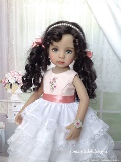На улице мороз, а в сердце - розы... Наряд для куколки Эффнер / Одежда и обувь для кукол - своими руками и не только / Бэйбики. Куклы фото. Одежда для кукол