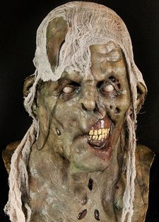 Full Head Halloween Mask $64.99 +  FREE Shipping! Wrapped up in gauze and thrown into the depths of the Dead Sea, Fish Food was just that— food for the fishes.  Known for its healing powers, the Dead Sea did a wonderful thing for Fish Food— it reanimated him. Can you fathom wearing this ultimate Zombie Mask? http://www.spookyhalloweenmasks.com/full-head-masks-2.html#