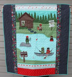 Bears Baby Quilt Baby Boy Quilt Crib Quilt Quilt for Sale