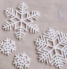 Decoración Navidad con Hama beads