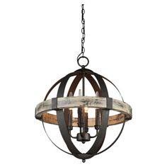 Featuring a globe silhouette and oil-rubbed bronze finish, this 4-light chandelier brings an industrial-chic touch to your living room or foyer....