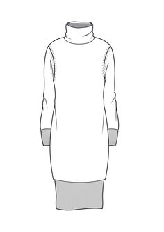 Funnel neck dress                                                                                                                                                                                 More