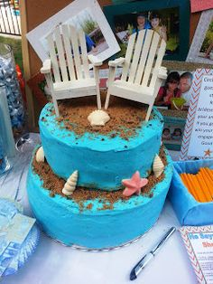 Glitter & Cake: Life's Necessities : Beach Themed Wedding Shower