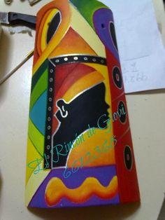 "EL RINCON DE GIOVI: MIS TEJAS ""NEGRITAS AFRICANAS"" Native American Pottery, Gourd Art, Decorative Tile, Arizona Tea, Moorish, Tile Art, Drinking Tea, Black Art, Art Pictures"