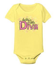 Look at this #zulilyfind! Banana 'Daddy's Little Diva' Bodysuit - Infant by KidTeeZ #zulilyfinds