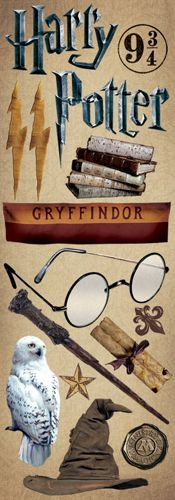 Creative Imaginations - Harry Potter Collection - Cardstock Stickers - Gryffindor at Scrapbook.com $0.99