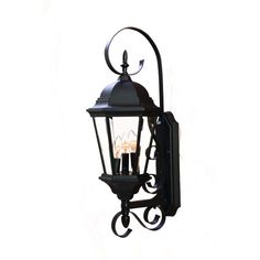 96.80 New Orleans Matte Black Three Light 25 Inch Outdoor Wall Mount Acclaim Lighting Wall Mount