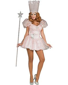 Wizard Of Oz Glinda Witch Short Dress Adult Womens Costume - Spirithalloween.com