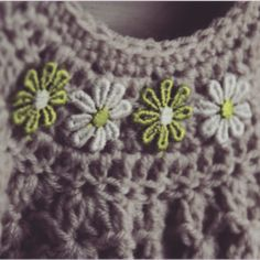 Crochet Dress with Flowers. Available from online shop. Flower Dresses, Crochet Necklace, Flowers, Shopping, Fashion, Moda, Floral Dresses, Fashion Styles, Royal Icing Flowers