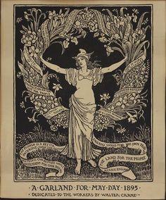 Cartel político… Una guirnalda por el Primero de Mayo 1895 Dedicado a todos los trabajadores por Walter Crane