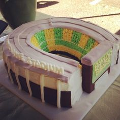 Now THIS is awesome! A #StripeMcLane Stadium cake! #SicEm