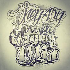 Anrijs Straume - Tattoo Lettering