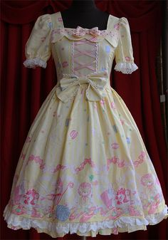 Sweet Bear pattern printing Lolita Dress