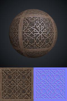Moorish lattice texture by Leonid-k.deviantart.com on @deviantART
