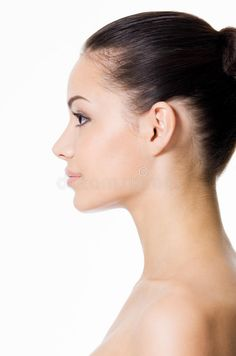 Nose job can boost your appearance and therefore your confidence, but it .A nose job can boost your looks and therefore your confidence, but it always change your desire to meet your ideal. Side Profile Woman, Face Profile, Female Side Profile, Perfect Side Profile, Women Profile, Profile Drawing, Chin Implant, Side Portrait, Nose Surgery