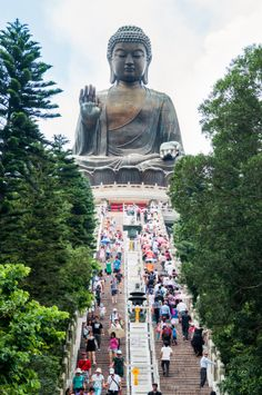 Though this Buddha was built in 1993, it's a major Hong Kong attraction that draws visitors from all over Asia. There are 268 steps.