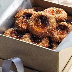 Fig 'n' Flax Thumbprint Cookies - EatingWell.com