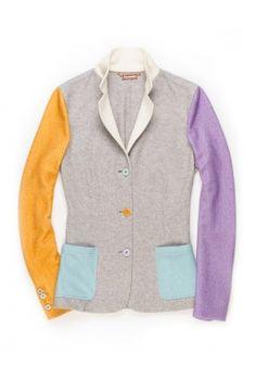 Giacca -Crazy Kate- In Cashmere Fleece Tinto In Capo Multicolore -  Lanificio Colombo