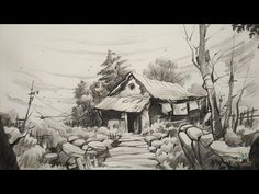 How To Draw and Shade Old House For Beginners With PENCIL | Pencil Art - YouTube