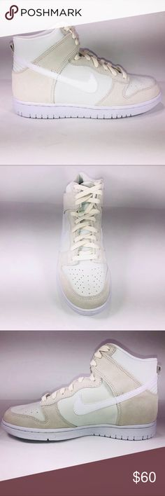 best website 5a61c f2298 Nike Dunk High Top GS Off White  White Sneakers New With Damaged Box  Missing Lid