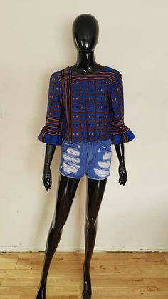 Check out this item in my Etsy shop https://www.etsy.com/uk/listing/513971661/bell-sleeve-top-ankara-blouse-wax-print