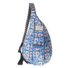 Lightweight sling pack with adjustable rope shoulder strap, two vertical zip compartments, two key or cell phone pockets, padded back with KAVU embroidery. Dimensions: x Fabric: polyester rip stop / water resistant. Tennis Gear, Tennis Clothes, Sling Backpack, Drawstring Backpack, Sling Bags, Messenger Bag, Shoulder Strap, Surfing, Backpacks