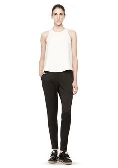 T by ALEXANDER WANG SILK TRACK PANT