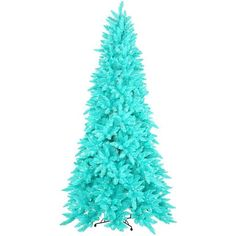 Blue Christmas Tree Artificial Christmas Tree Turquoise Ashley Pre lit Tree 3ft x 26in found on Polyvore