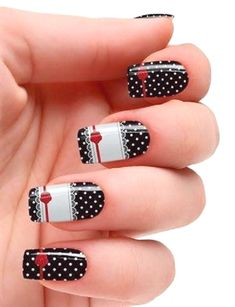 Best gallery of beautiful Polka Dot Nail Art Designs in Polka dot nail art designs choice image nail art and nail design nail art designs polka Easy Nail Art: Polka Dot Nails for Beginners Lace Nail Art, Red Nail Art, Lace Nails, Pretty Nail Art, Christmas Nail Art Designs, Winter Nail Designs, Christmas Nails, Nail Design Gold, Dot Nail Designs