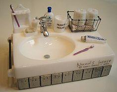 Dollhouse bathroom sink