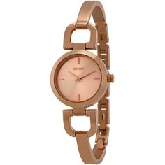 Dkny Women's NY8542 Reade Round Rose-Tone Bracelet Watch (67.325 CRC) ❤ liked on Polyvore featuring jewelry, watches, snap bracelet watch, stainless steel jewelry, rose jewellery, snap jewelry and rose crown