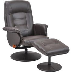 BenchMaster Stress-Free Swivel Reclining Chair & Ottoman - $249.88   #home #furniture #chair