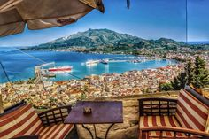 GREECE CHANNEL | #Zakynthos town from Bohali, #Greece http://www.greece-channel.com/
