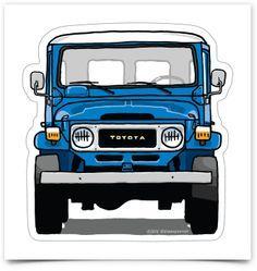Image of Toyota LandCruiser stickers Toyota Cruiser, Toyota Fj40, Jeep 4x4, Honda 125, Custom Hot Wheels, Jeep Parts, Ford Pickup Trucks, Bmw E30, Unique Cars