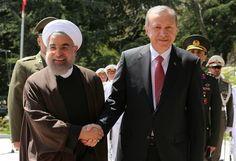 El presidente turco, Tayyip Erdogan, llegó el martes en una visita oficial a Irán.
