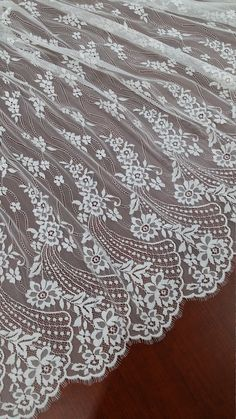 Ivory lace fabric French Lace Embroidered lace by LaceToLove