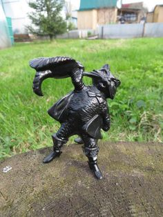 Puss in Boots Candle Holder   [etsy]   Soviet Metal, Made in USSR 1975 @ Kasli Factory, Awarded Iron Castors