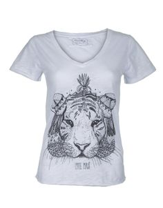 """""""Le Tigre"""" By Little Madi T-shirt Lily 100% coton flammé"""