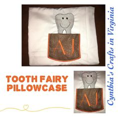 My son lost his first tooth so what do I do? Embroidered personalized Pillowcase for the tooth fairy #toothfairy #firsttooth #firsttoothlost #pillowcases #proudkid #toothless #embroidery #embroidered #personalized #personalization #toothfairybag #toothfairytime #toothfairyiscoming #cynthiascraftsinvirginia #yesbbb