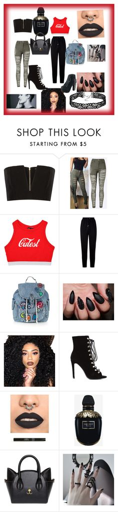"""""""Untitled #42"""" by hamsah-sherif ❤ liked on Polyvore featuring Balmain, Givenchy, Topshop, Kylie Cosmetics, Alexander McQueen, rockerchic and rockerstyle"""