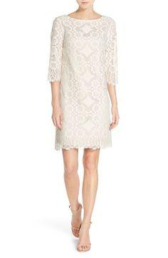 Eliza J Lace Shift Dress (Regular & Petite) available at #Nordstrom
