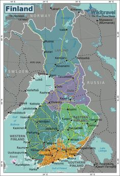 Map of Finland. Looking into the origin on my last name, my ancestors were from Western Finland